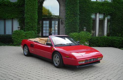 classic italian cars for sale blog archive 1989 ferrari mondial t cabriolet. Black Bedroom Furniture Sets. Home Design Ideas