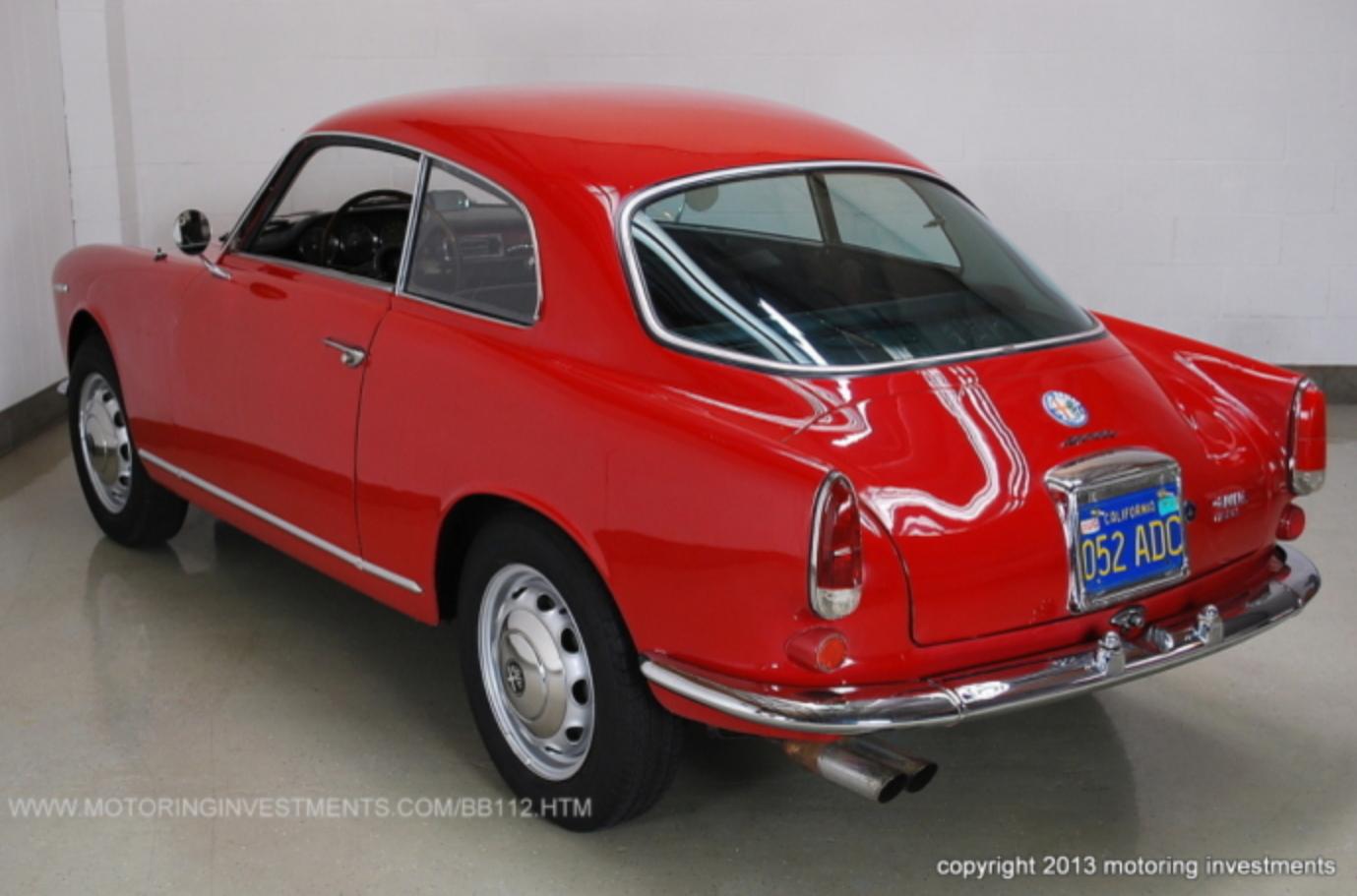 1962 alfa romeo giulietta 1600 sprint classic italian cars for sale. Black Bedroom Furniture Sets. Home Design Ideas